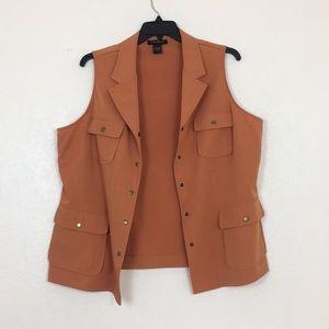 Ashley Stewart orange vest
